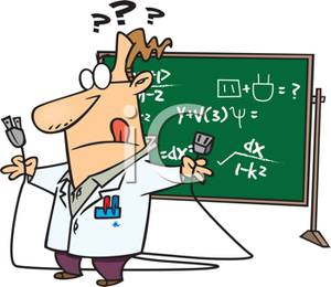 A_Colorful_Cartoon_Nutty_Professor_Being_Fooled_By_an_Equation_Royalty_Free_Clipart_Picture_100713-145823-746053